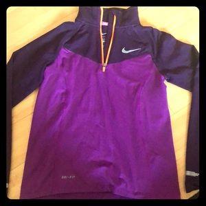 Nike Dri Fit Girls half zip up long sleeve